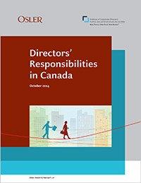 Directors Responsibilities In Canada